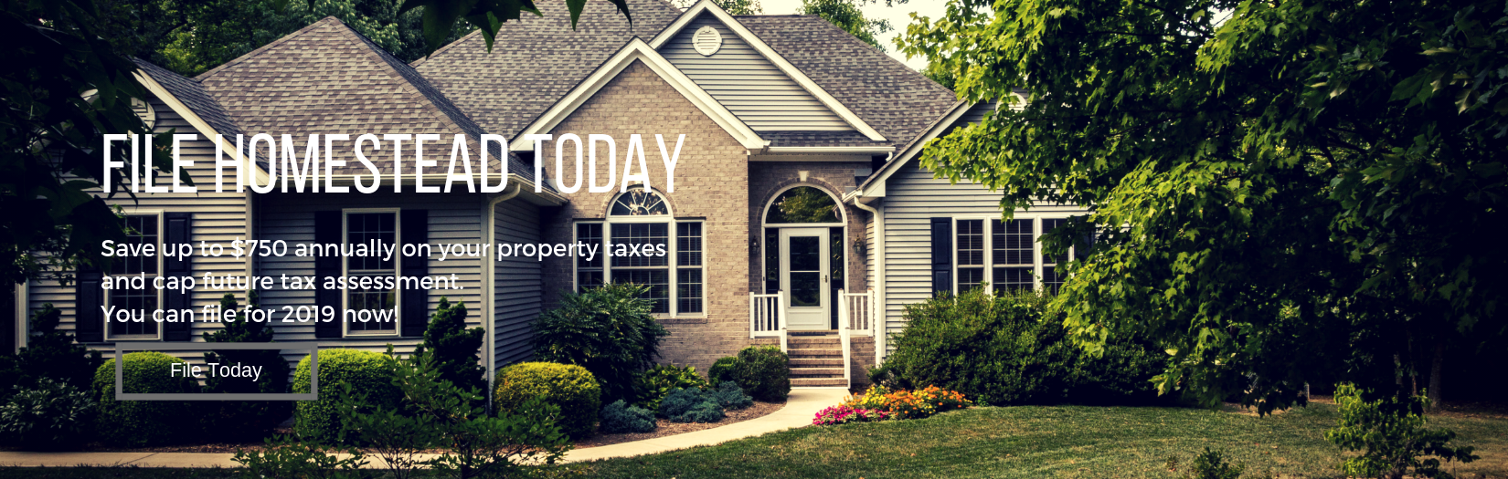 File Homestead Exemption Online Today